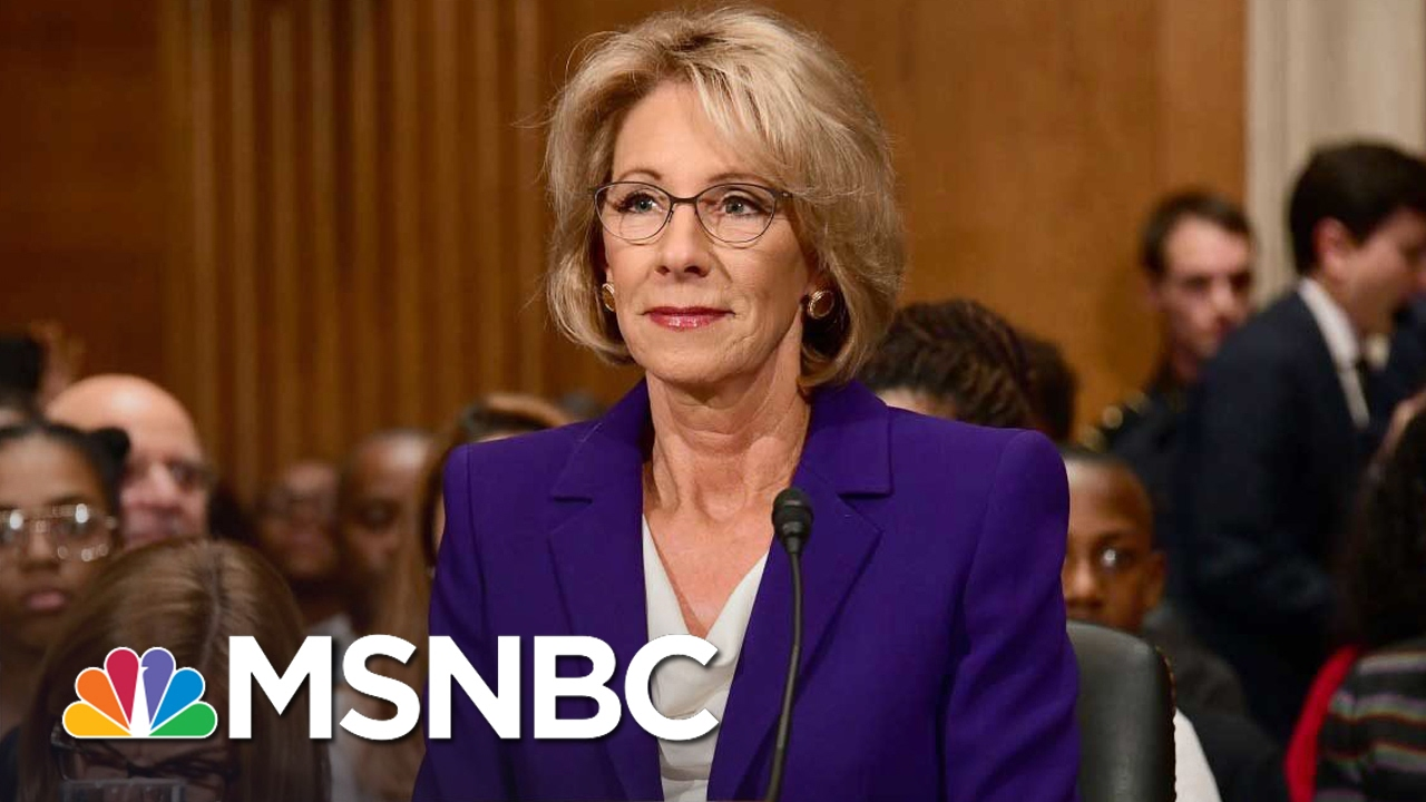 Parent on Betsy DeVos For Education Secretary: 'I'm Frightened' | MSNBC thumbnail
