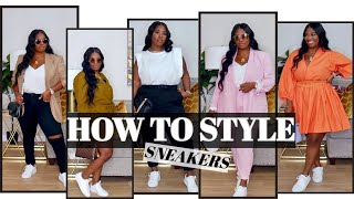 HOW TO STYLE SNEAKERS! CASUAL CHIC OUTFITS! | POCKETSANDBOWS