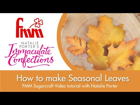 Seasonal Leaves  from FMM Sugarcraft and Immaculate Confections