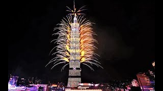 Taiwan Welcomes 2019 With Stunning Fireworks, Light Show (Video 4K)