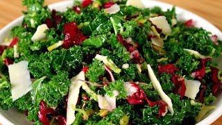 Best Kale Salad |Kale Salad Recipe| Raw Kale Salad | Kale Salad With Cranberries