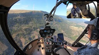 Helicopter Flight: Malaga to Ellensburg, WA