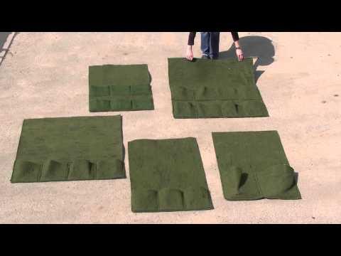 Ufermatte und Pflanztaschen im Teichbau