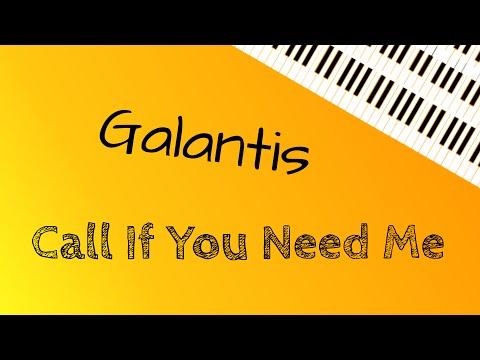 Galantis ‒ Call If You Need Me (Piano Cover) | + lyrics