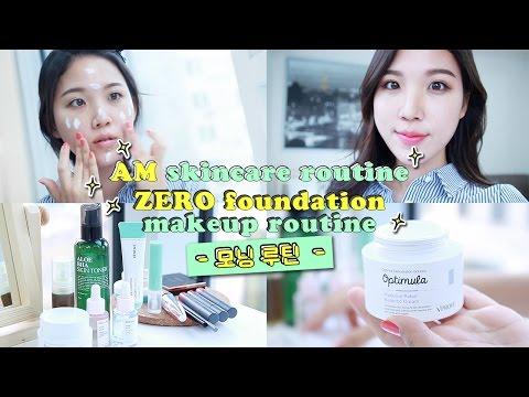 AM Skincare Routine & ZERO Foundation Makeup Routine • Oily, Dehydrated Skin