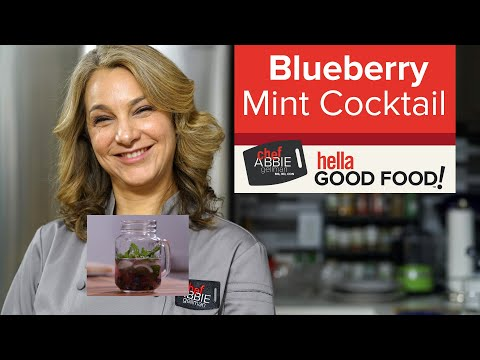 Blueberry Vodka Cocktail with Mint