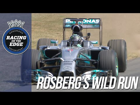 F1 World Champion Rosberg's donut show at FOS