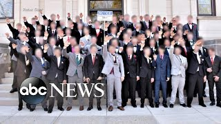 Photo appears to show high school students giving Nazi salute