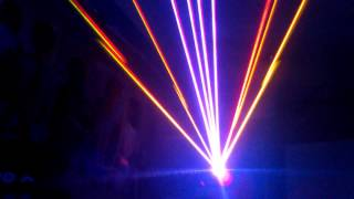 1.6W RGB Laser to music (Angel City - Do you know)