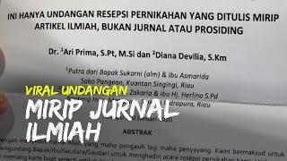 Viral Undangan Pernikahan Mirip Jurnal Ilmiah, Pemilik Sebut Undangan untuk Dosennya