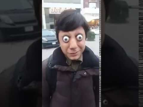 Young girl with scary large eyes