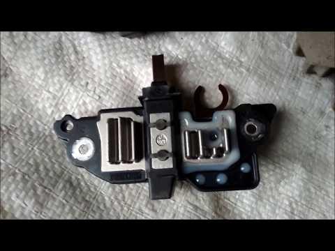 Ремонт генератора Renault. Замена щеток и реле регулятора напряжения.
