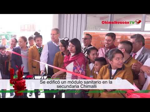 El presidente municipal de Chimalhuacán entrega aulas en la colonia Tepalcates