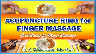 Acupuncture Ring For Finger Massage