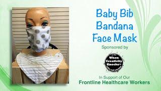 Baby Bib Bandana Face Mask DIY