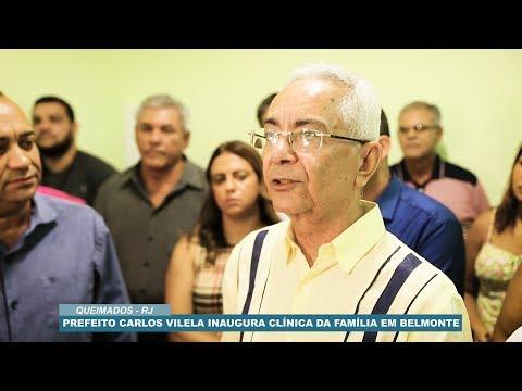 PREFEITO DE QUEIMADOS CARLOS VILELA INAUGURA CLÍNICA DA FAMÍLIA EM BELMONTE  - TVP