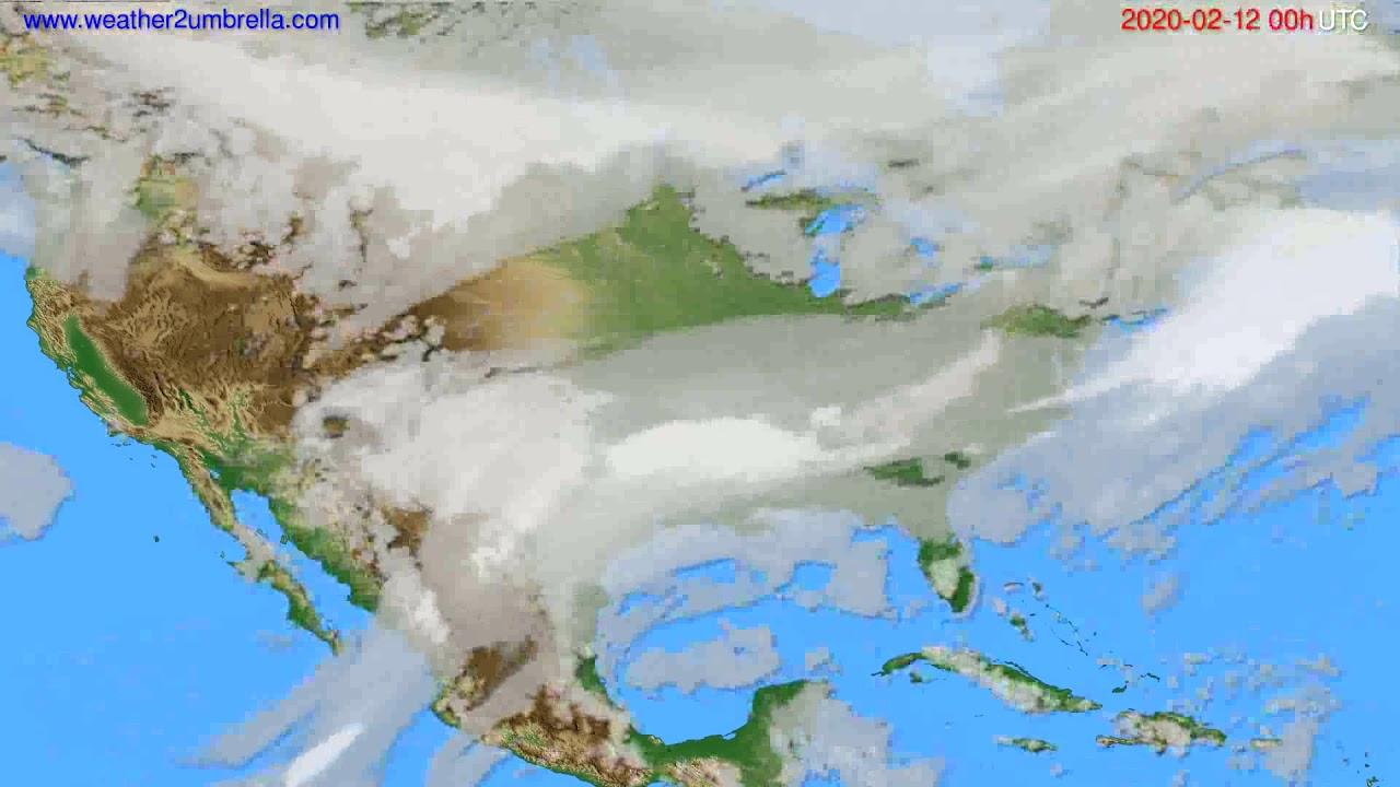 Cloud forecast USA & Canada // modelrun: 00h UTC 2020-02-11