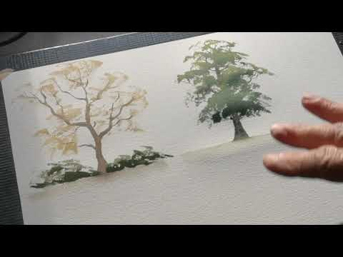 Thumbnail of How to paint hedges in landscape #colinsteedart