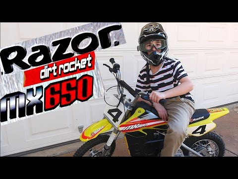 Razor MX 650 Dirt Rocket with Robert-Andre!