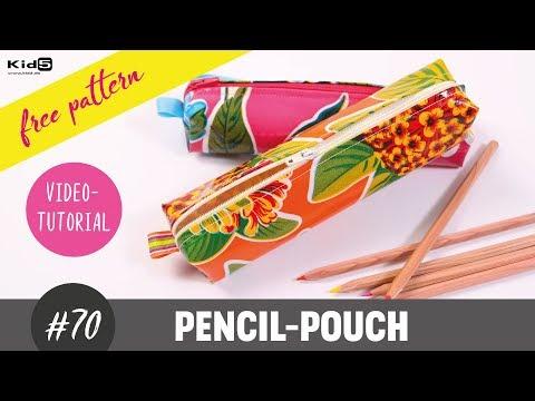 süßes Stiftmäppchen aus Wachstuch oder Leder ganz einfach selber nähen DIY-Näh-Tutorial