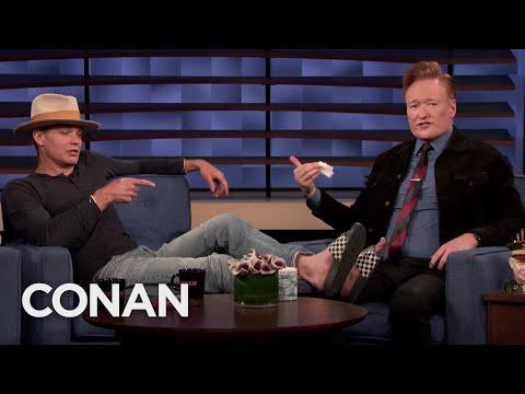 Conan Disinfects Timothy Olyphant's Feet – CONAN on TBS