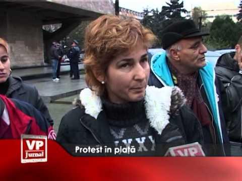 Protest în piață