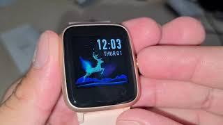 "Fitpolo ID205L Smartwatch Fitness Armband mit 1,3"" Touch Display IP68 Puls Schlaftrack Schrittzähler"