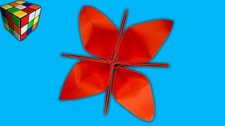 Как сделать цветок из бумаги. Цветы оригами своими руками. DIY поделки