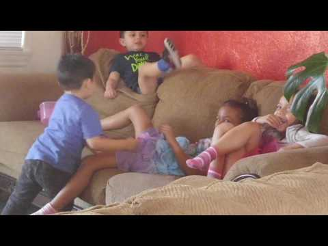 Kids playing Doctor and witches. Kids shows kids fun