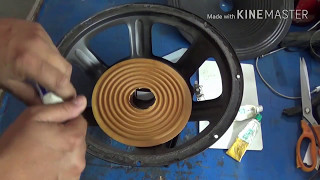 speaker repair in hindi (step by step guide)12in. DJ speaker repair.