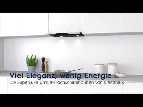 Die Umluft-Flachschirmhaube von Electrolux