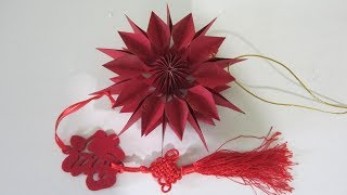 TUTORIAL - Simple & Easy to Make Charming Hongbao Snowflake 1 (5 pcs of hongbao)