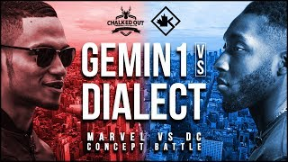 Rap Battle - Marvel vs DC (Concept Rap Battle - Gemin1 vs Dialect)  | #COVol3