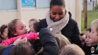 Visite de Laura Georges à Garcelles-Secqueville