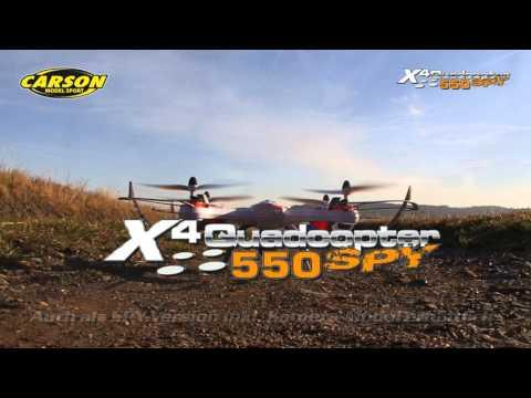X4 Quadcopter 550 & 550 SPY GHz 100% RTF (500507099, 500507100) DE