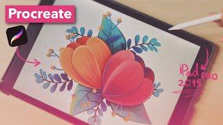 🌺 Drawing Floral Illustration On IPad Pro (digital Illustration With Apple Pencil)