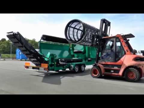 Komptech Primus Mobile Drum Screen - Removal of Screen