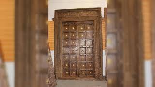 Antique Old Carved Door Traditional Haveli Doors