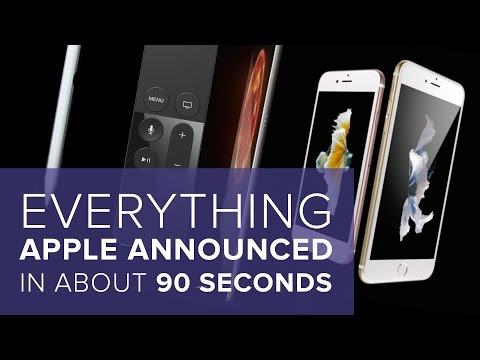 Everything Apple Announced Yesterday In About 90 Seconds
