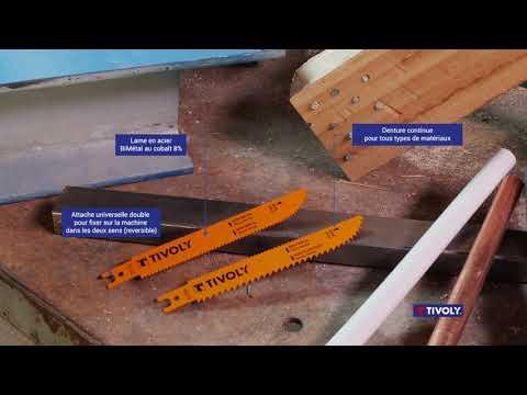 Lames de scie sabre à coupe plongeante et multidirectionnelle - TRIVOLY