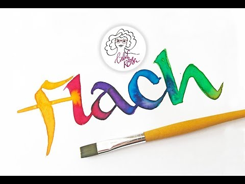 Hand Lettering Brushlettern mit dem Flachpinsel ABC #letterparty