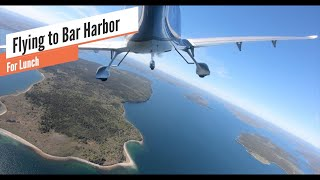 Flying to Bar Harbor