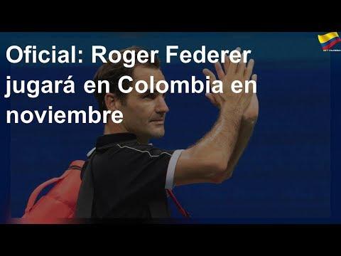 Roger Federer jugara en Colombia en noviembre