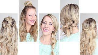 Five Easy 1 min Hairstyles | Cute Girls Hairstyles by Cute Girls Hairstyles