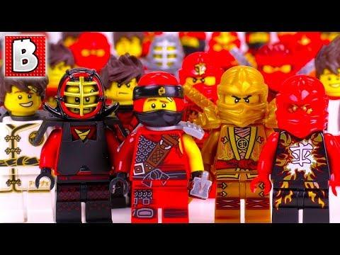 Every LEGO Kai Minifigure EVER MADE!!!   2018 NINJAGO Collection Update