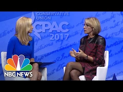 Betsy DeVos Comments On Transgender Bathroom Reversal At CPAC | NBC News
