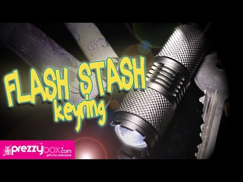 Torch and Cash Stash Keyring