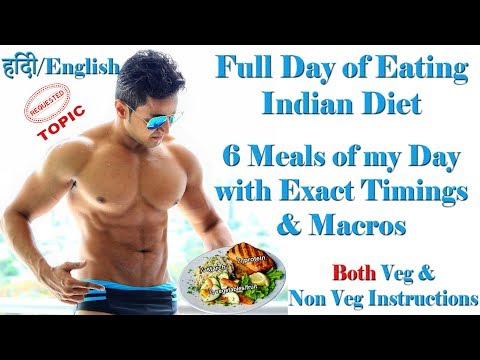 Full Day of Eating | Indian Bodybuilding Diet Plan with Exact Macros & Calorie Calculation Chart