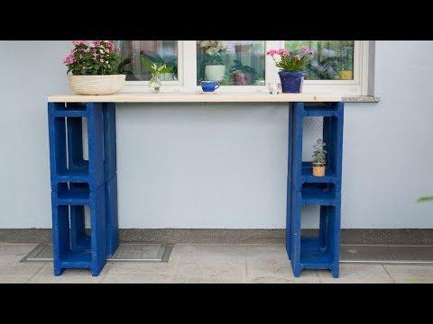 Gartengeheimnisse: DIY Beton-Balkontisch