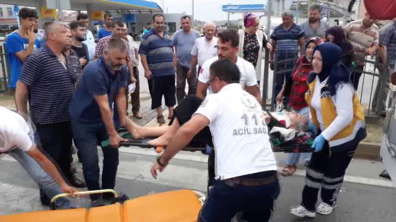 Sinop Yolunda Trafik Kazası: Motosikletin Çarptığı Yaya Yaralandı